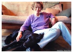 Anne Lamott as puppy pillow