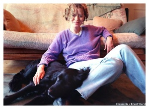 Anne Lamott as puppy pillow